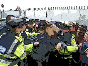 horseboy meme in a fight for international freedom